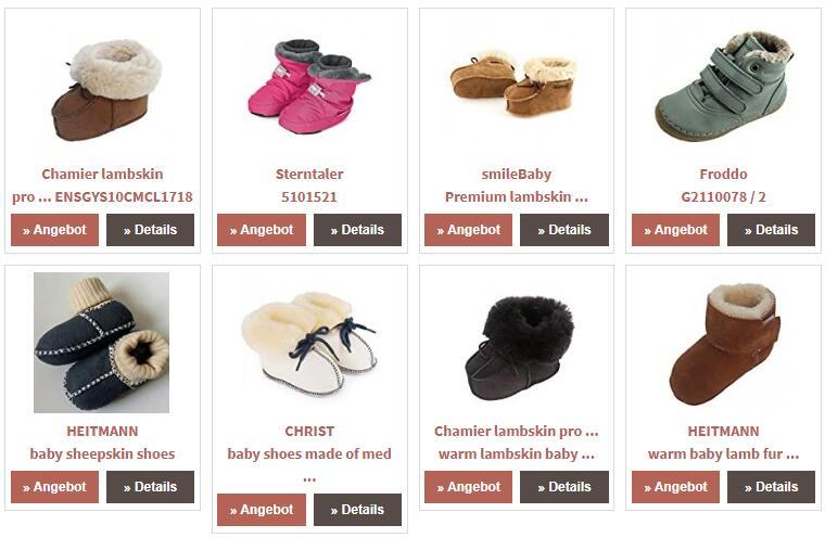Baby sheepskin shoes